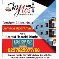 Service Apartments in Gachibowli | Long Term | Skynest Service Apartments