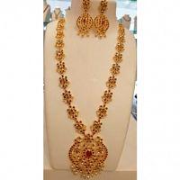 Haram at our Store - Sai Srinivasa Pearls - Malte Jewellery - Best Bentex Jewellery Shop in Vijayaw