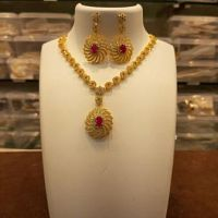 Necklace CZ Jewellery - Sai Srinivasa Pearls, Vijayawada - Jaipur beads Jewellery