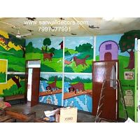 school wall Decoration Art work painting in Hyderabad
