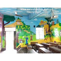 creative wall Art work Design painting in Hyderabad