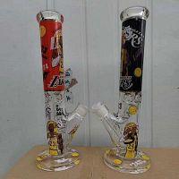 Glass Bong Smoking Pipe Bubbler Glass Water pipe Tobacco Smoking Pipes