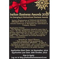 INDIAN BUSINESS AWARDS 2019