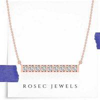 Bar Diamond Pendant Necklace