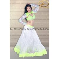 White color lehenga for dance costume is the best outfit