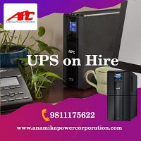 UPS on hire in Delhi NCR, Noida, Gurugram, Faridabad. Contact us for more details. 9811175622